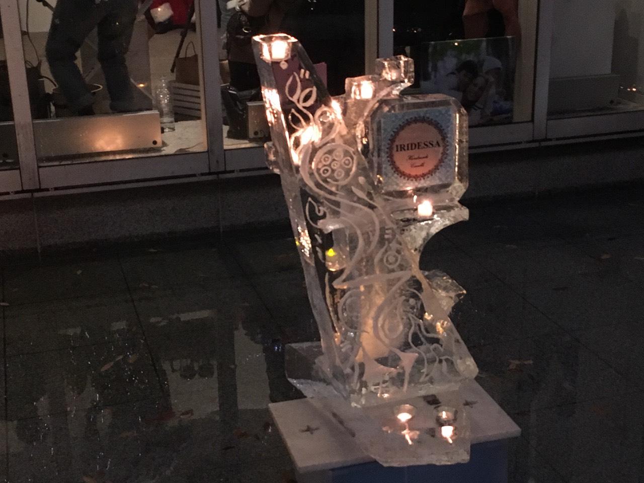 某イベント キャンドル氷アート