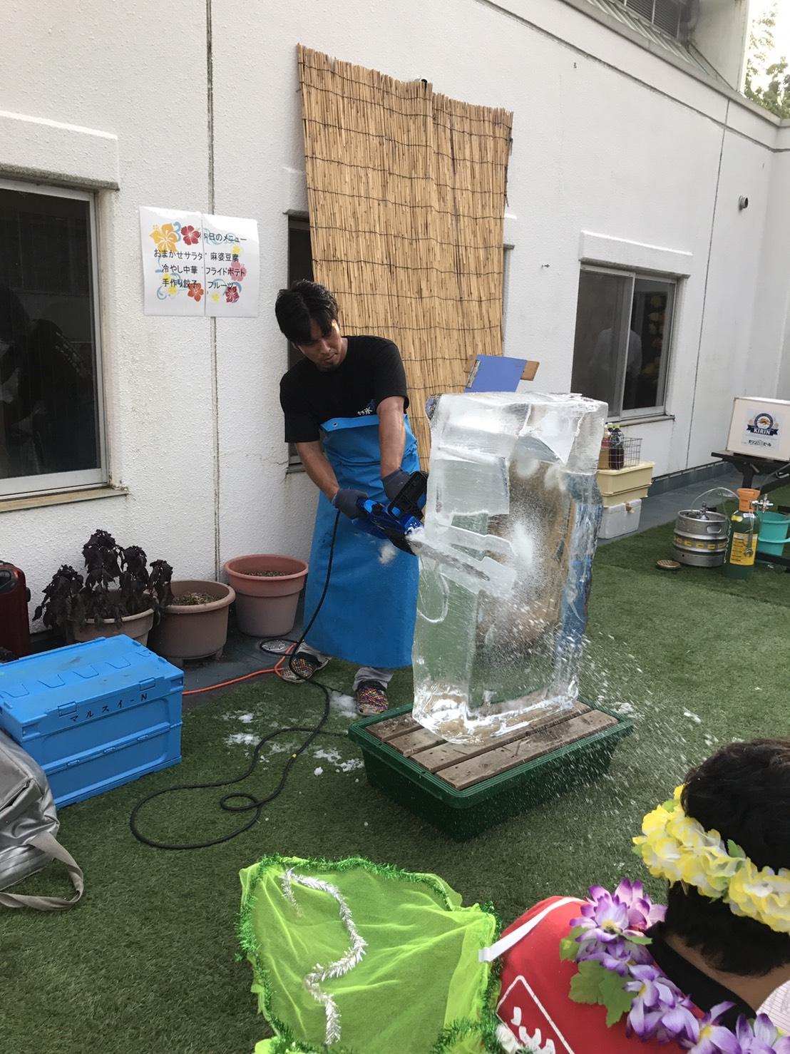 氷彫刻実演ショー2017.8.29