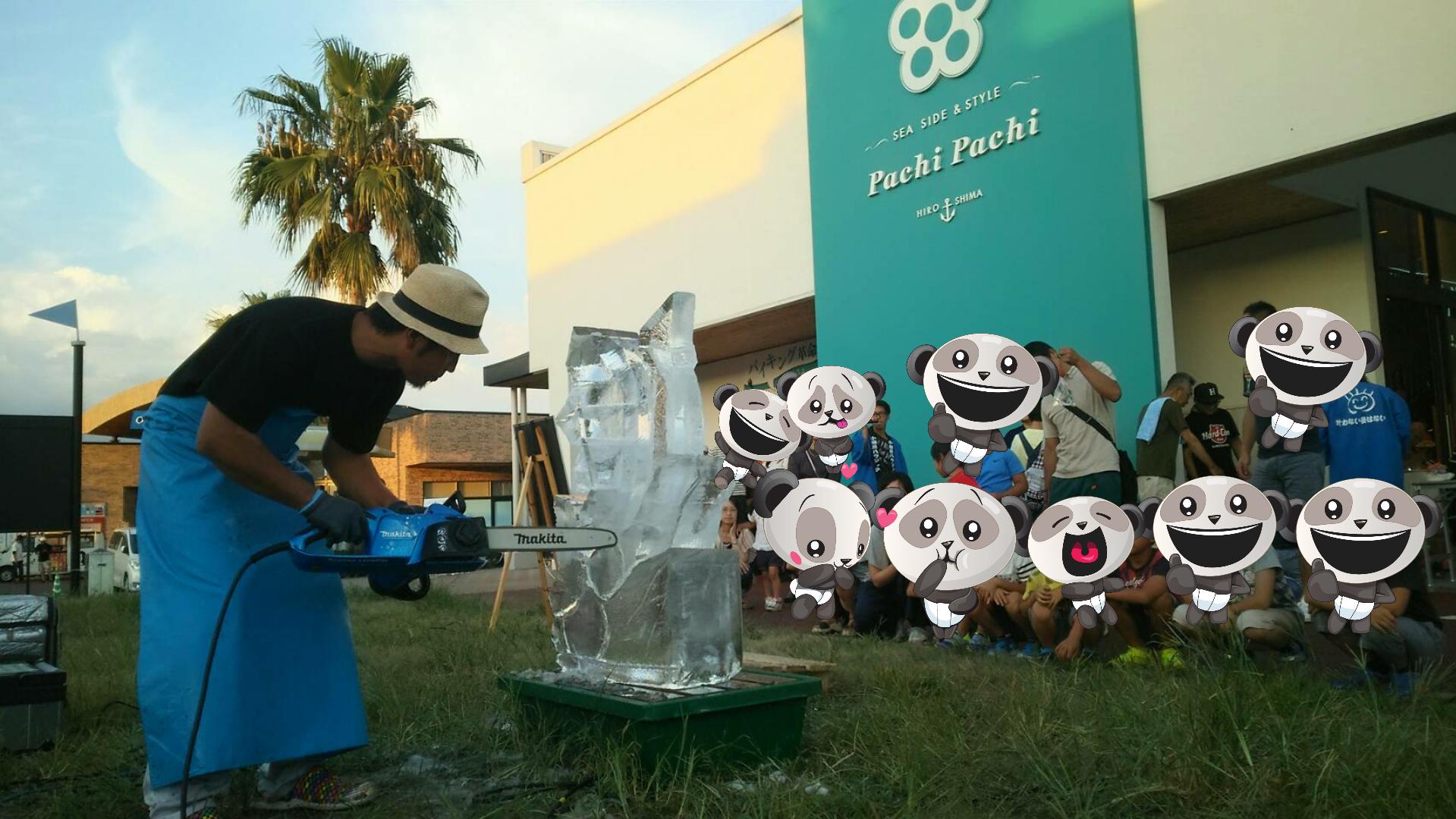 氷彫刻実演ショー【感謝祭】鯉