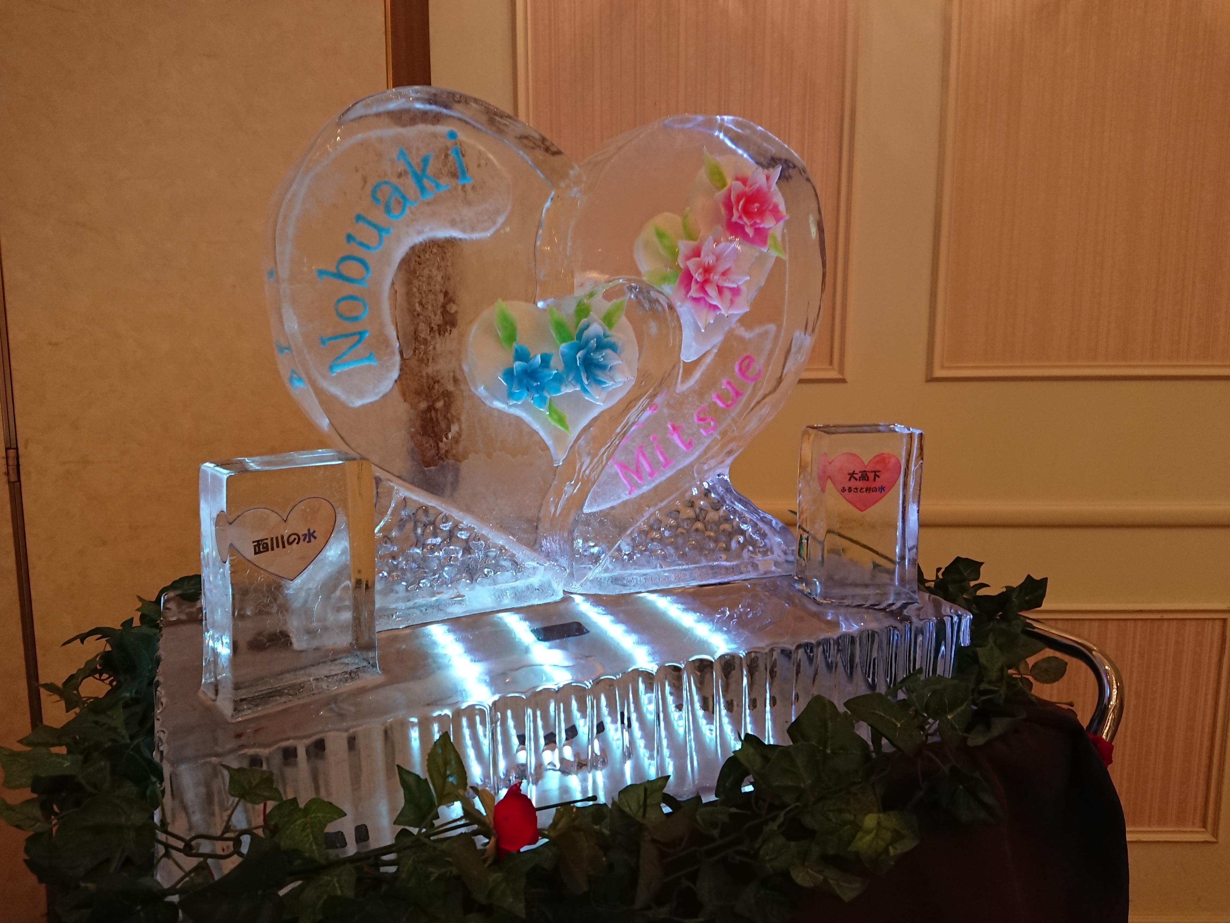 ブライダル氷アート