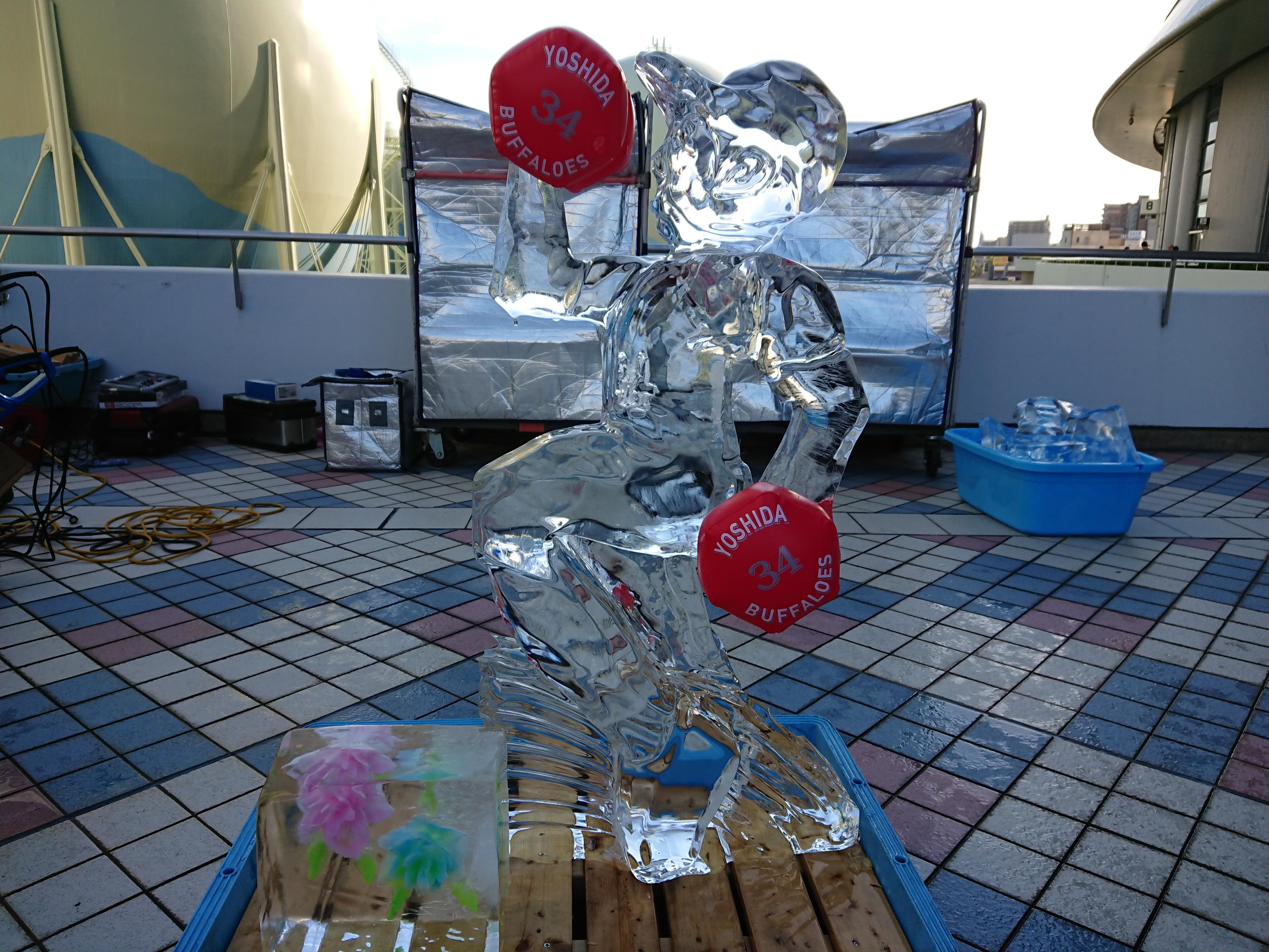 京セラドーム氷彫刻実演ショー2018.8.17