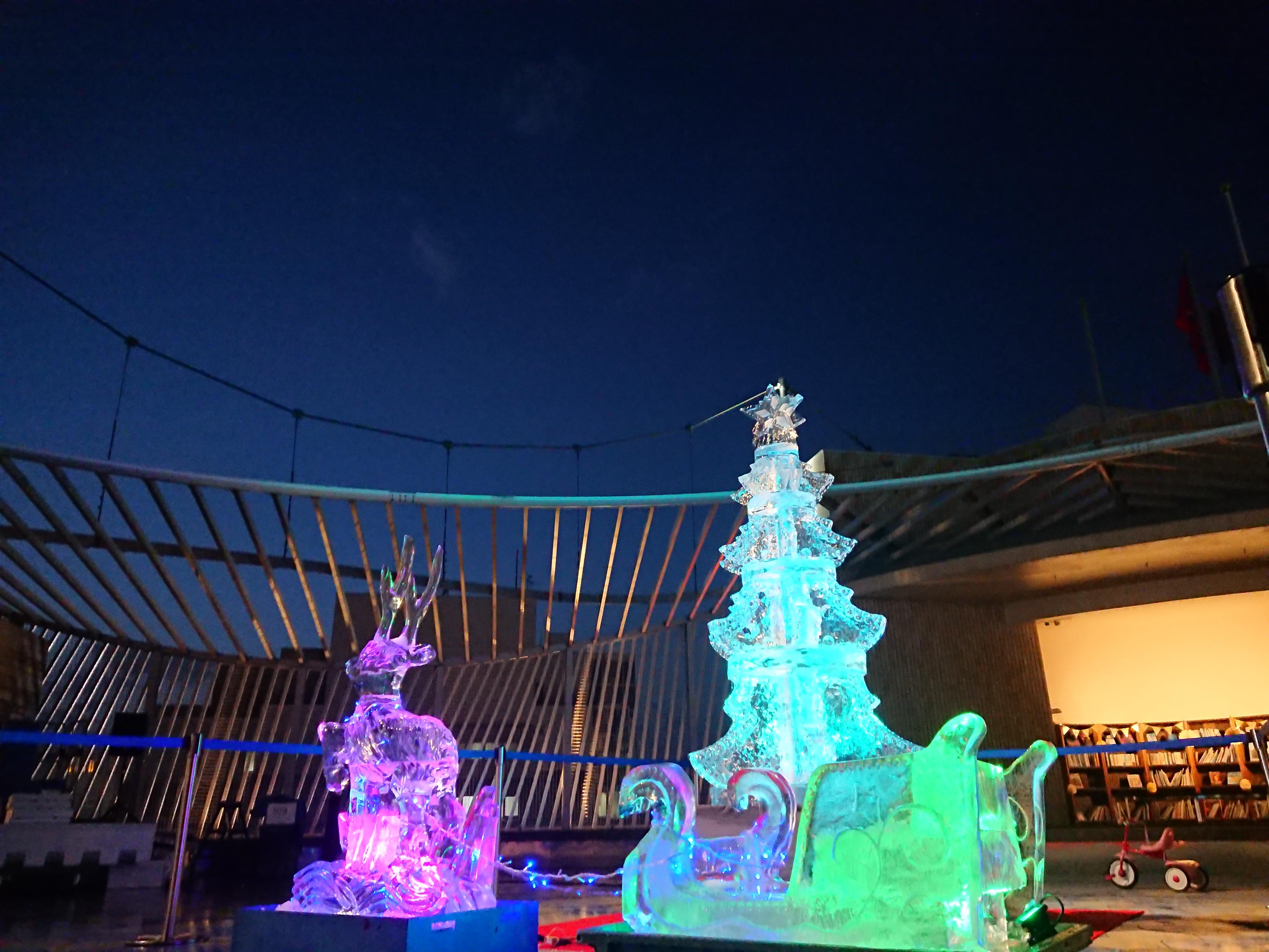 クリスマス彫刻イベント